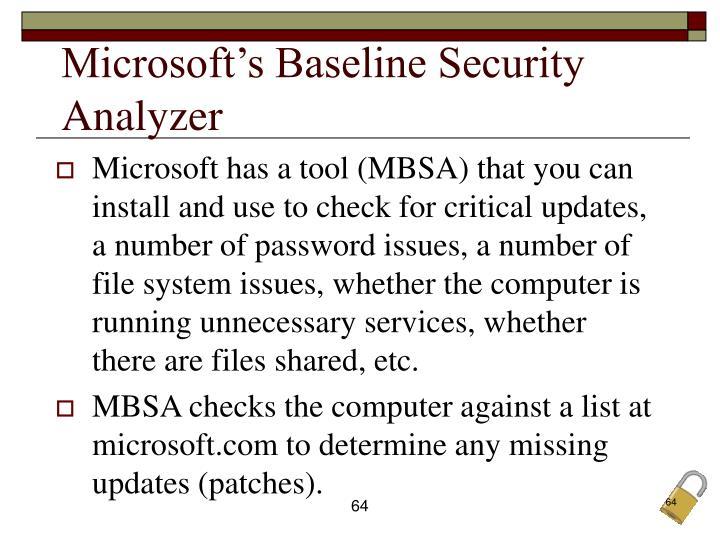 Microsoft's Baseline Security Analyzer