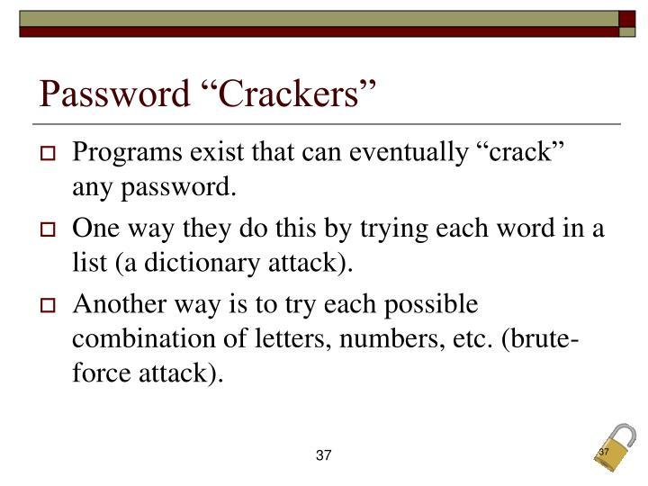 """Password """"Crackers"""""""