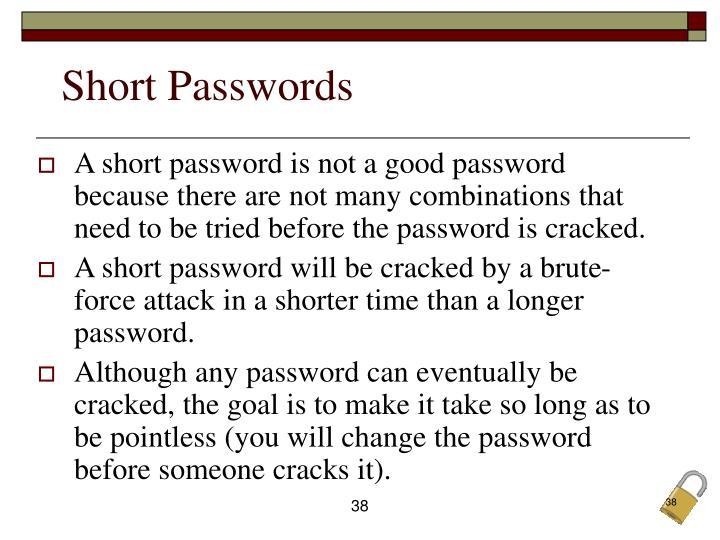 Short Passwords