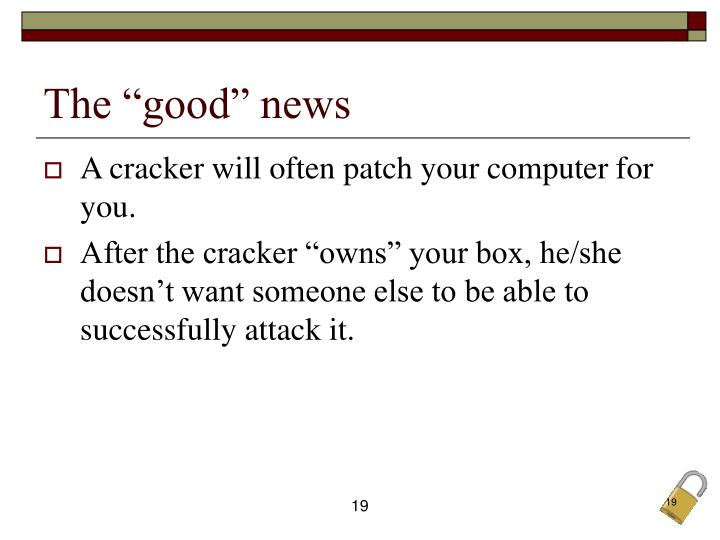 """The """"good"""" news"""