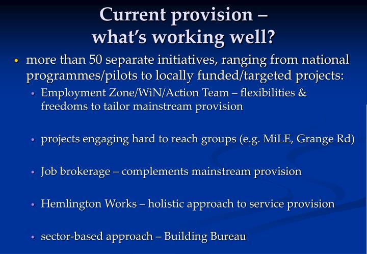 Current provision –