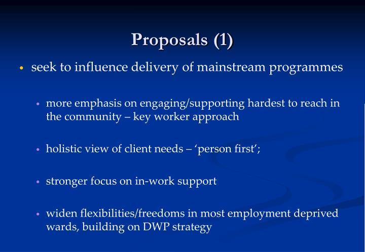 Proposals (1)
