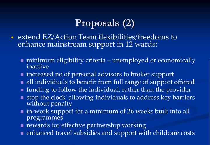 Proposals (2)