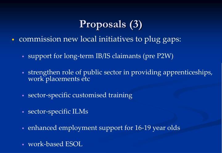Proposals (3)