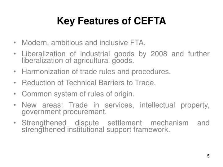 Key Features of CEFTA