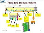 front end instrumentation