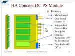 ha concept dc ps module