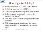 how high availability
