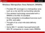 wireless metropolitan area network wman