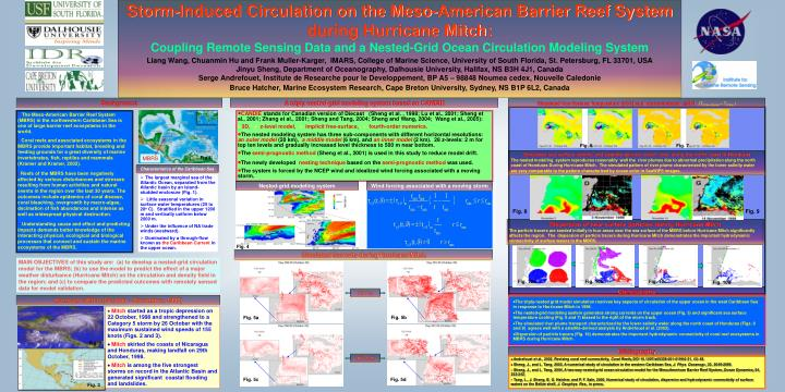Storm-Induced Circulation on the Meso-American Barrier Reef System during Hurricane Mitch: