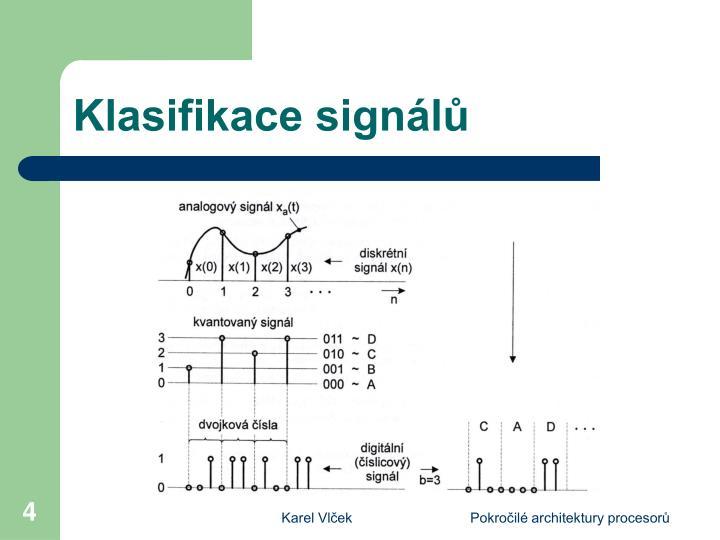 Klasifikace signálů