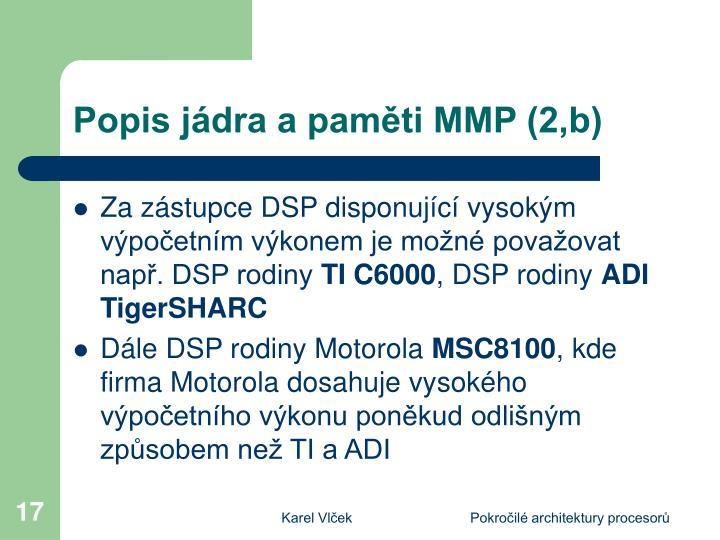Popis jádra a paměti MMP (2,b)