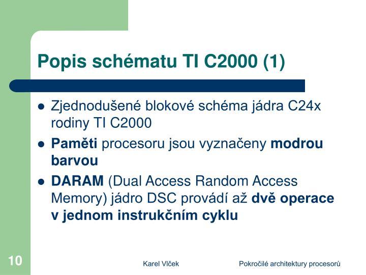 Popis schématu TI C2000 (1)