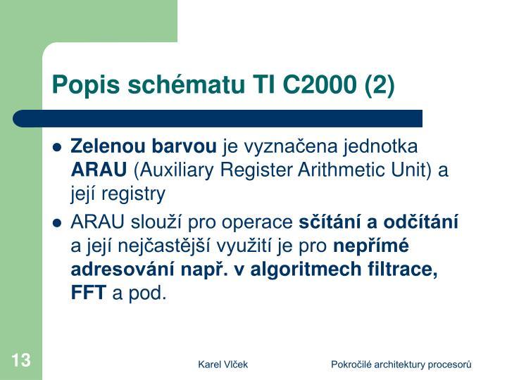 Popis schématu TI C2000 (2)