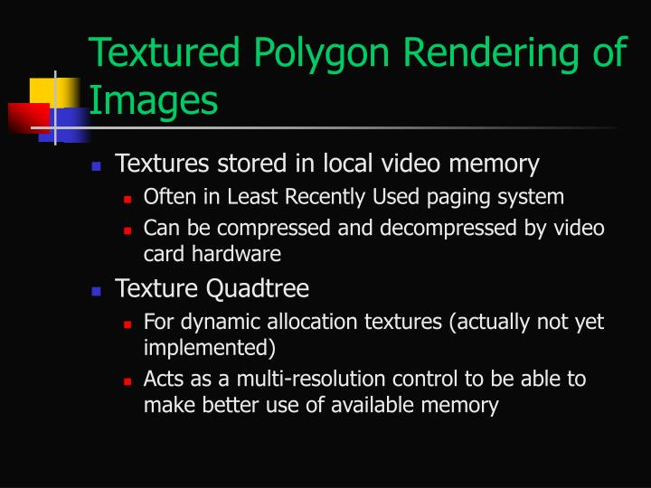 Textured Polygon Rendering of Images