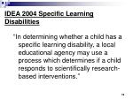 idea 2004 specific learning disabilities1