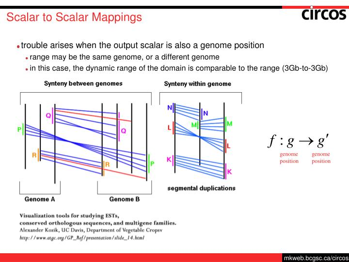 Scalar to Scalar Mappings