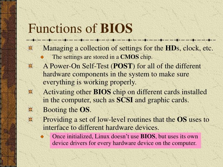 Functions of
