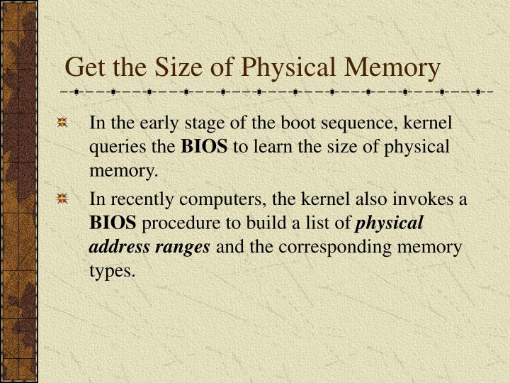 Get the Size of Physical Memory