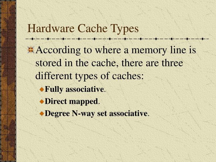 Hardware Cache Types