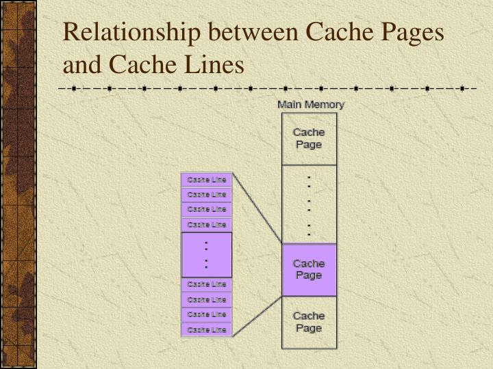 Relationship between Cache Pages and Cache Lines