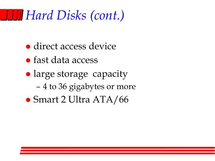 Hard Disks (cont.)