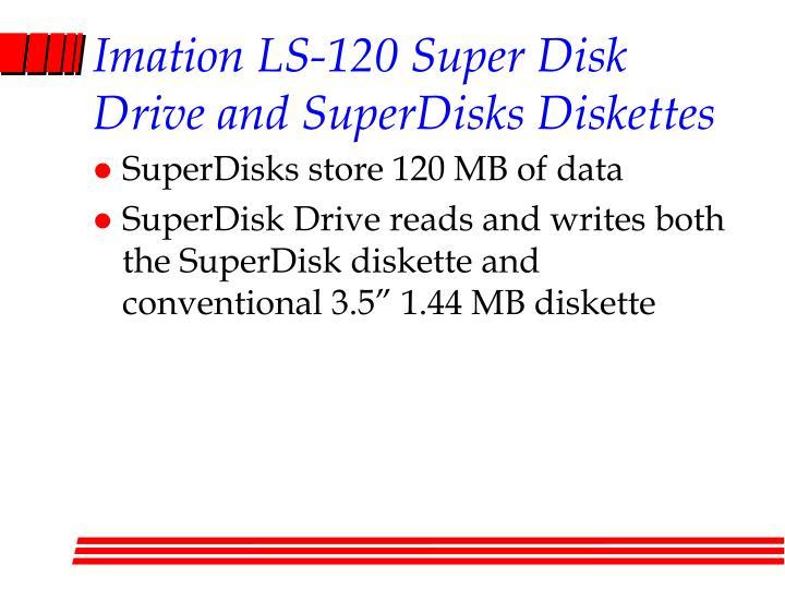 Imation LS-120 Super Disk Drive and SuperDisks Diskettes