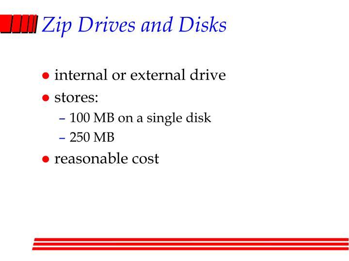 Zip Drives and Disks