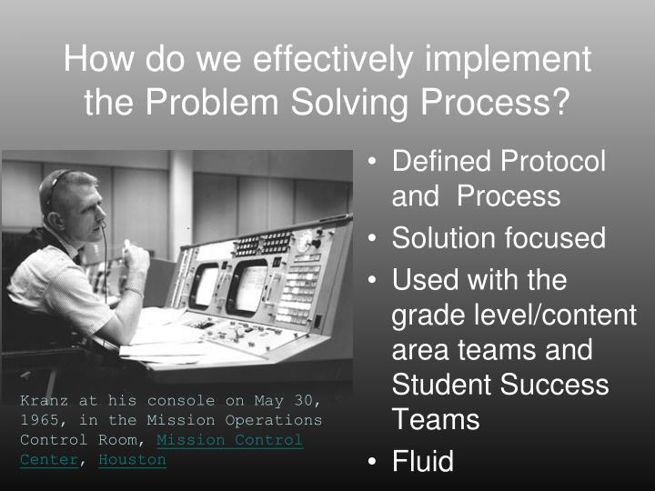 How do we effectively implement the Problem Solving Process?
