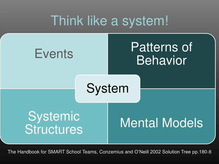 Think like a system!