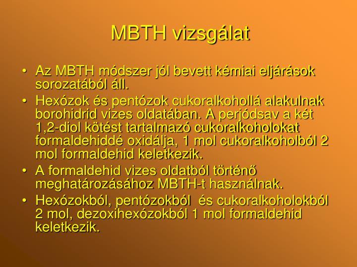 MBTH vizsgálat