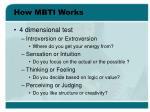 how mbti works