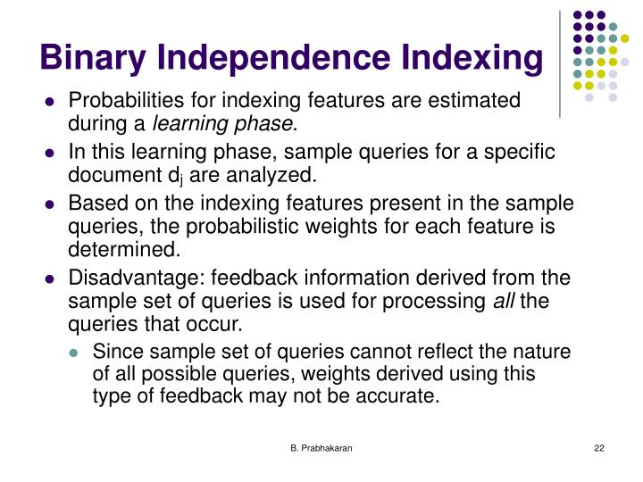 Binary Independence Indexing
