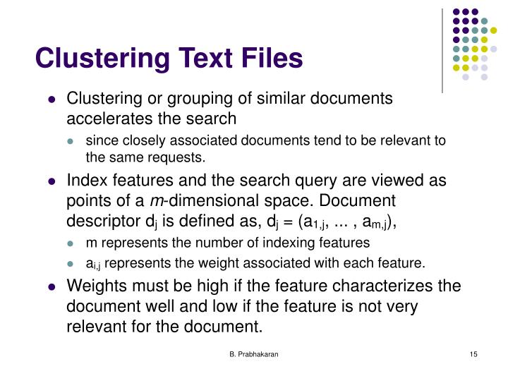 Clustering Text Files