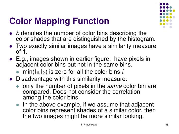 Color Mapping Function