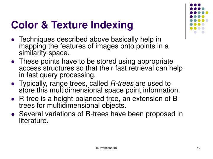 Color & Texture Indexing