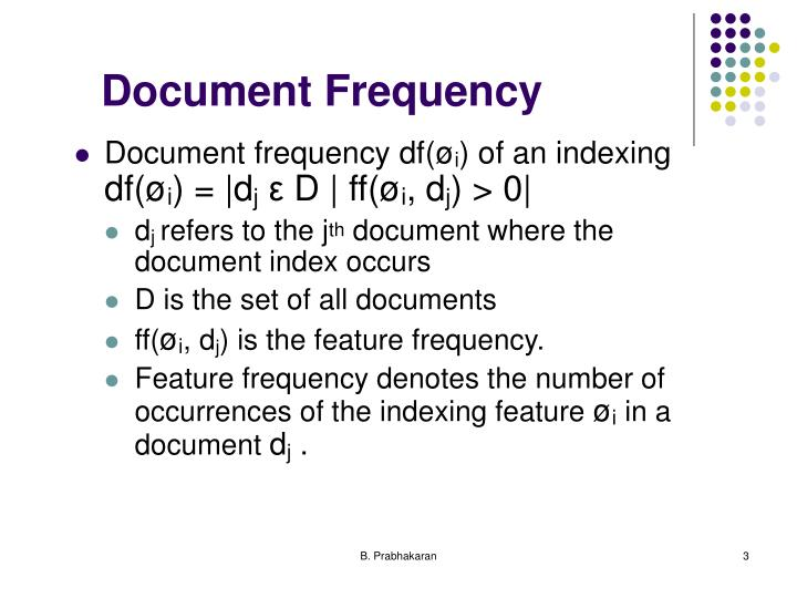 Document frequency