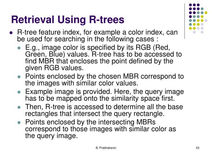 Retrieval Using R-trees