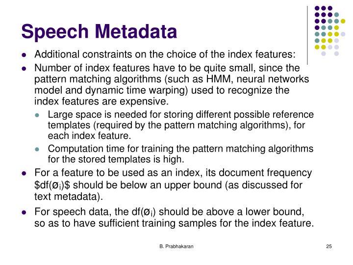 Speech Metadata