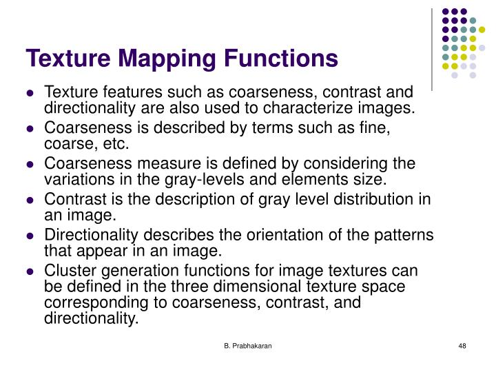 Texture Mapping Functions