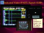 dedicated video fast signals lep