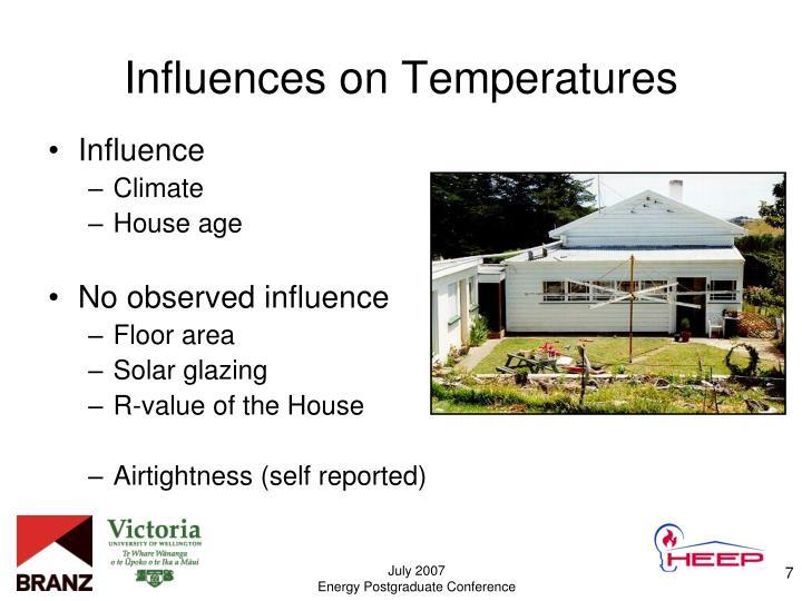 Influences on Temperatures