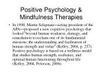 positive psychology mindfulness therapies