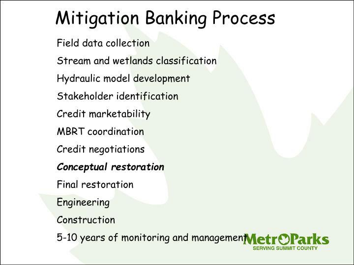 Mitigation Banking Process