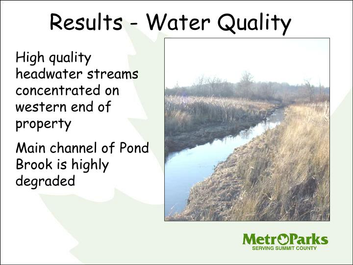 Results - Water Quality
