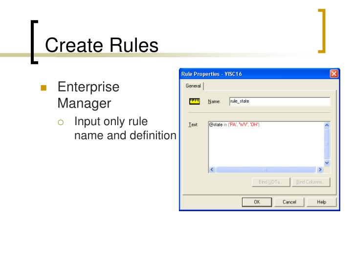 Create Rules