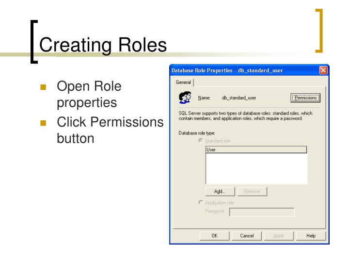 Creating Roles