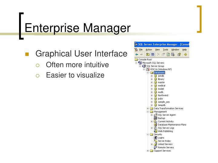 Enterprise Manager