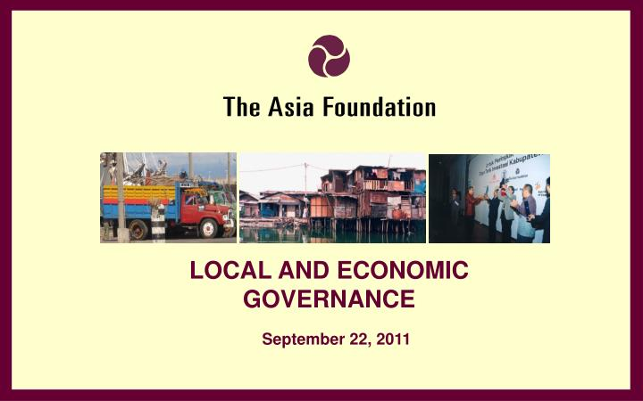 LOCAL AND ECONOMIC GOVERNANCE