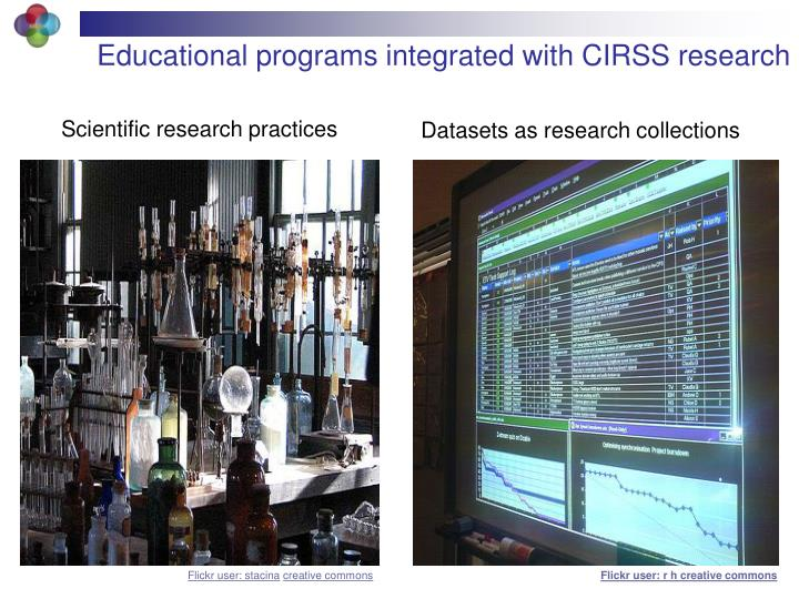 Educational programs integrated with CIRSS research